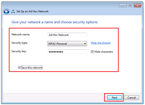 Set Up an Ad Hoc Network in Windows 7