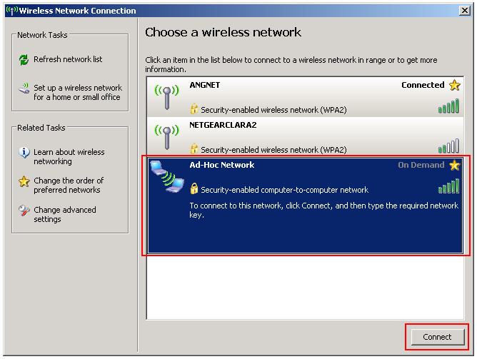 Wireless Network Connection