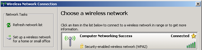 Choose a wireless network