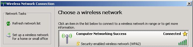 Choose a wireless network