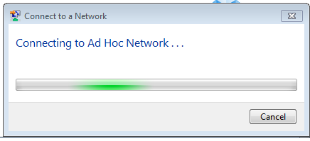 Connecting to an Ad Hoc Network in Windows 7