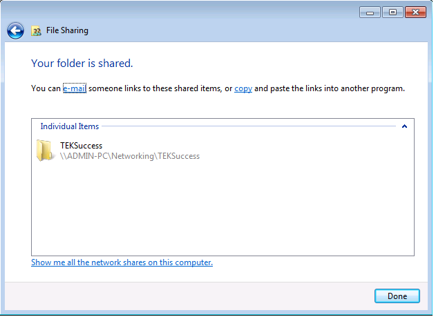 Windows 7 File Sharing