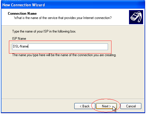 PPPoE Connection Name