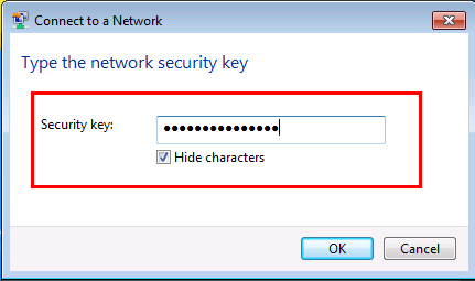 Wireless network security key