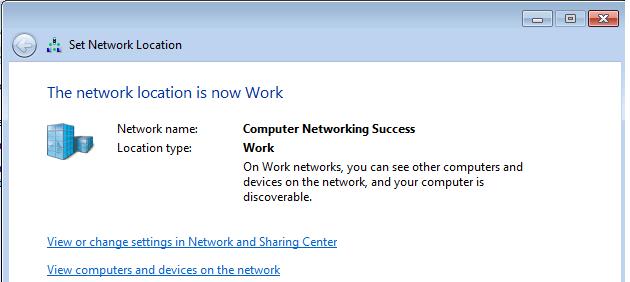 Change network location