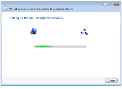 Setting Up the Ad Hoc Network