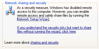 Network Sharing and Security