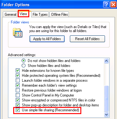 Use simple file sharing