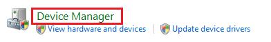 Windows Vista Device Manager option