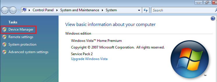 Windows Vista System