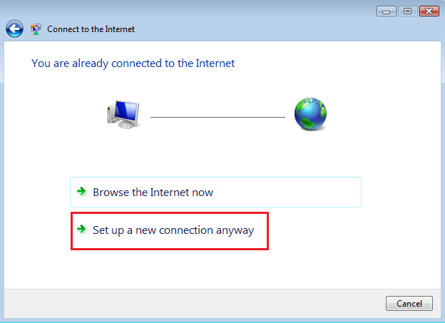 Connect to the Internet with Windows Vist