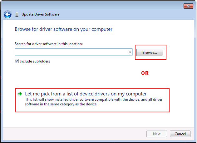 Windows 7 Update Driver Software