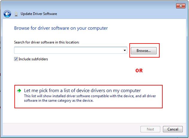 Windows 7 Update Driver Software