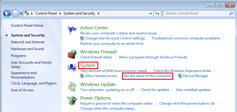 Windows 7 Change Computer Name and Workgorup