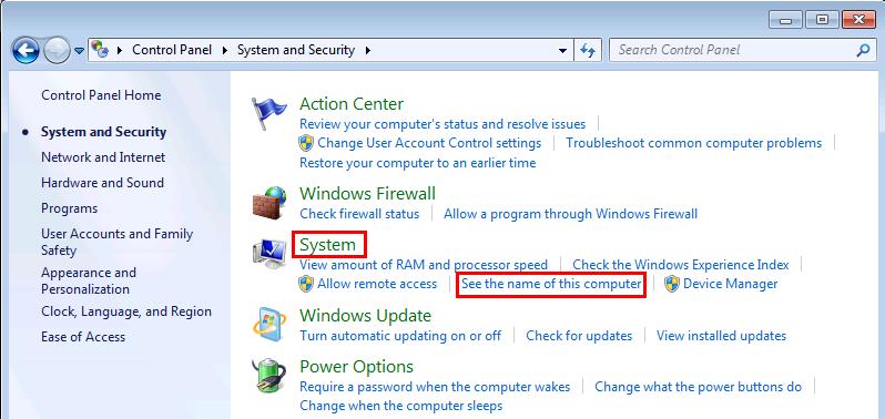 Windows 7 Change Computer Name and Workgorup
