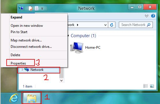 Windows 8 Network