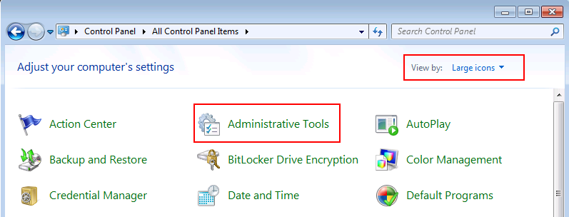 Windows 7 Administrative Tools