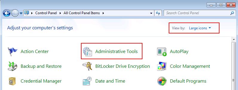 Windows 7 Administrative Tools