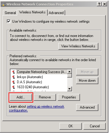 Preferred Wireless networks