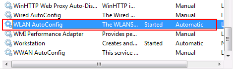 Services in Windows 7