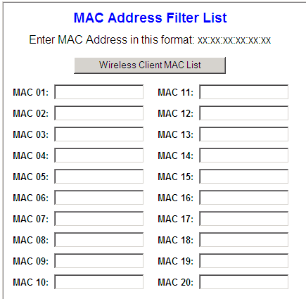 how to find the mac address of a router