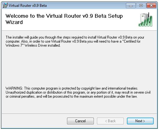 Virtual Router Installation