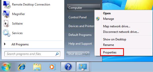 Windows 7 Properties